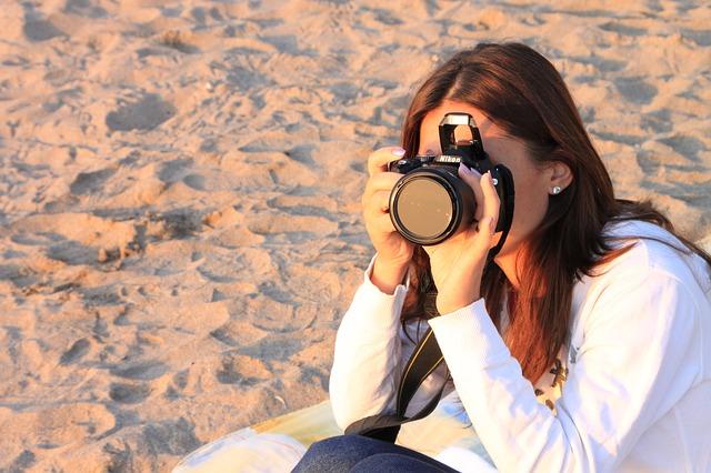 Free beach female girl light photographer sea sun