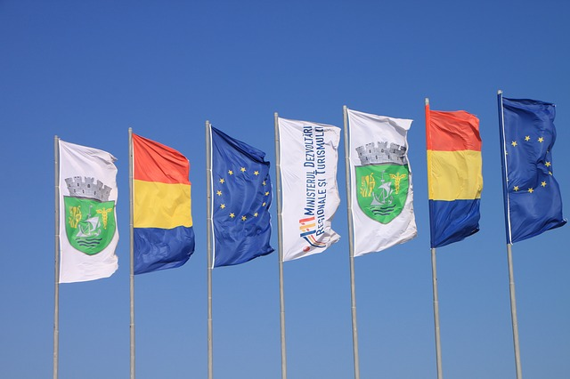 Free beach colored country flags neptune romania sunny
