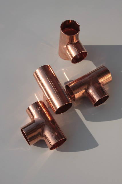 Free copper equal fittings joints metal soldered tee