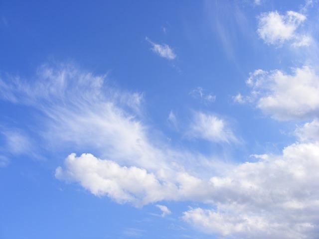 Free blue clouds dark sky white nature