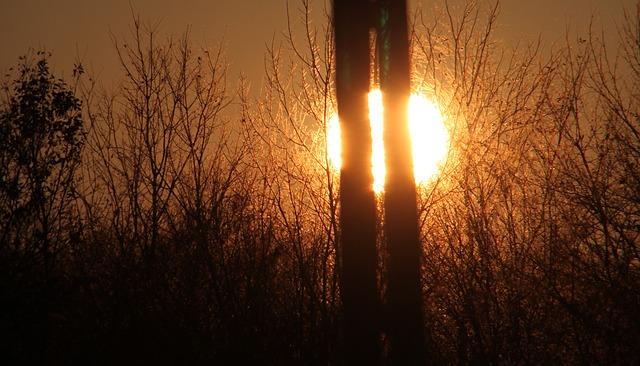 Free bending red refraction sunlight sunset sunshine