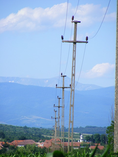 Free industries electricity power line