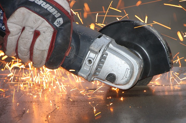 Free angle cutting grinder iron metal sparks steel