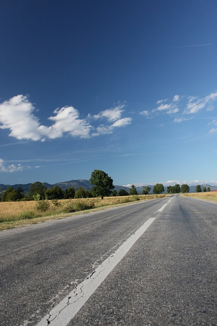Free asphalt blue clouds highway landscape mountain