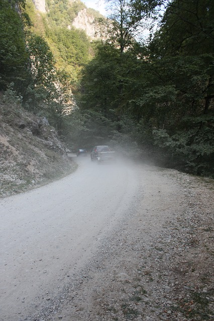 Free cars dust gravel road trail transportation travel