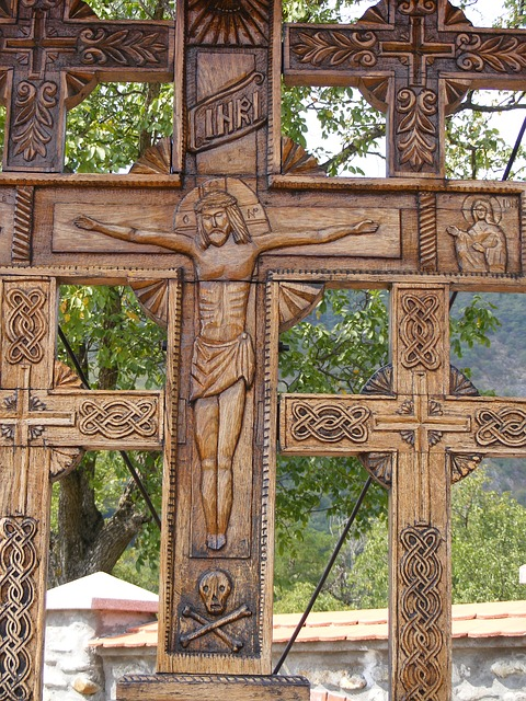 Free crucifix monastery religion sculpture trinity