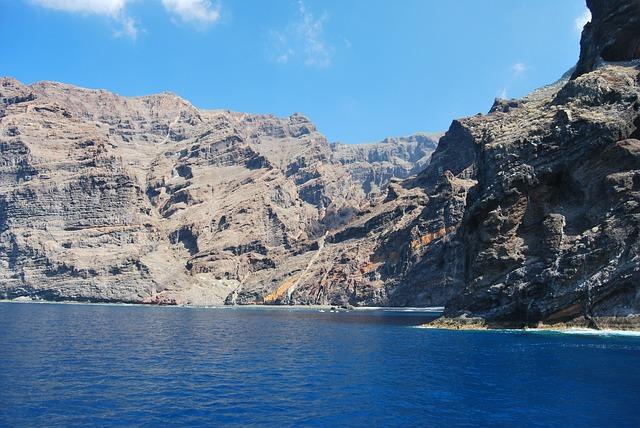 Free canary cliffs coastline islands mountain ocean