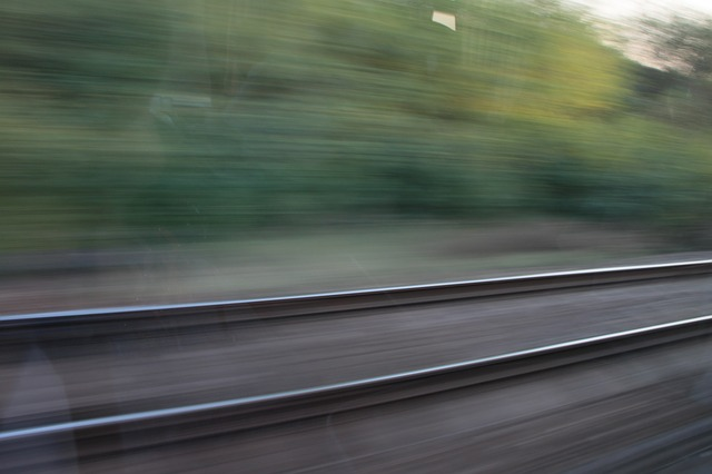 Free blurred motion railway speed track trains