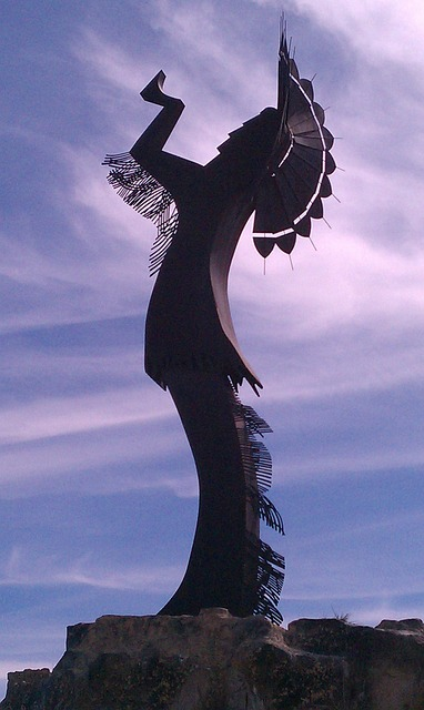 Free wichita kansas sky clouds sculpture indian