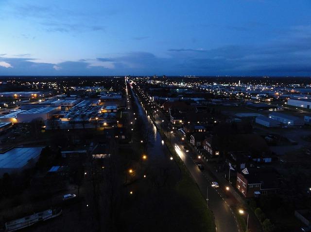 Free stadskanaal netherlands night evening sky clouds