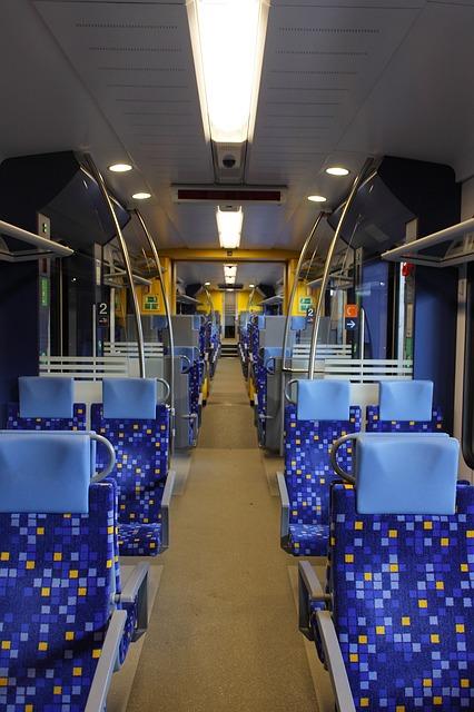 Free passenger car seats interior railway mass transit