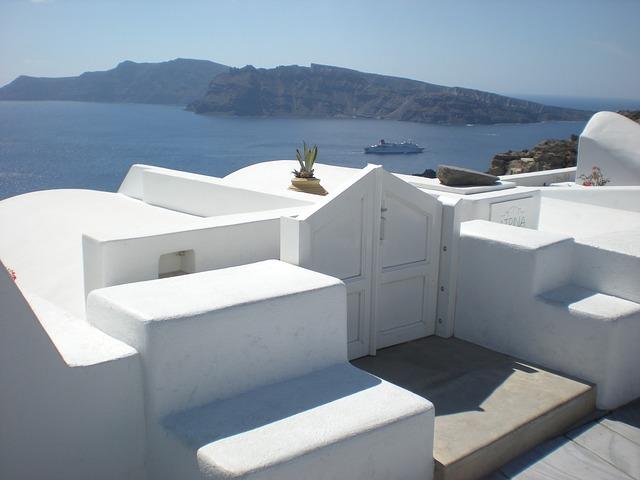 Free santorini greek island greece marine caldera oia