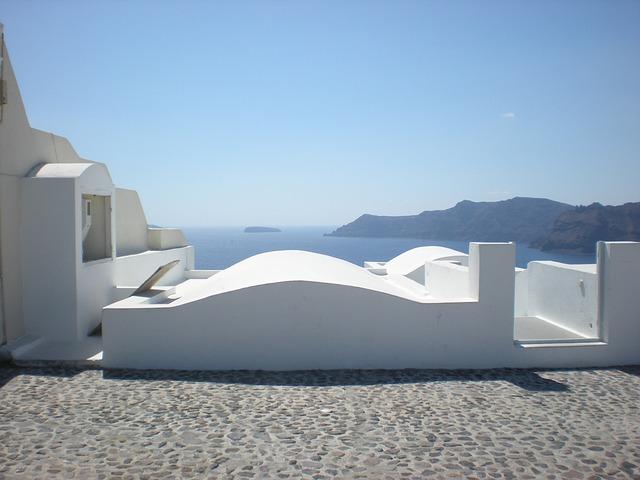 Free santorini greek island greece caldera panorama oia