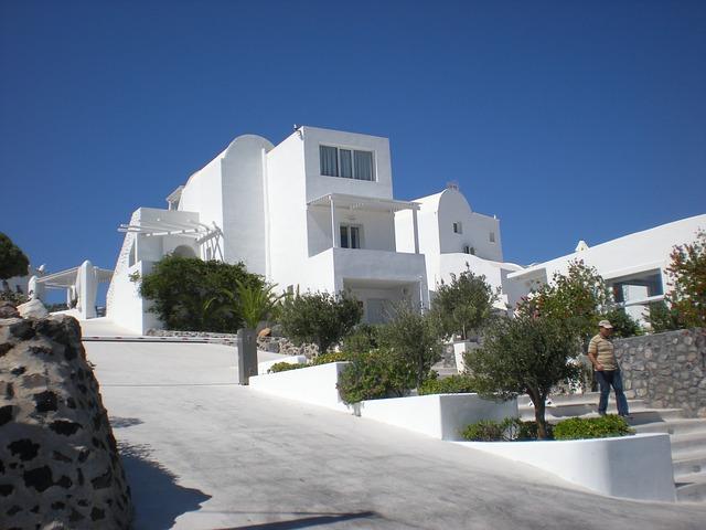 Free santorini greek island greece marine street view