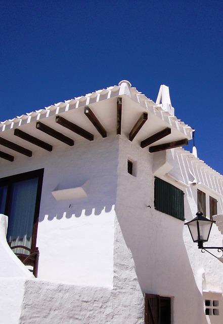 Free minorca house tipical binibeca white spain