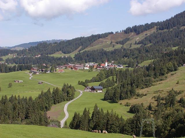 Free austria landscape sky clouds mountains valley