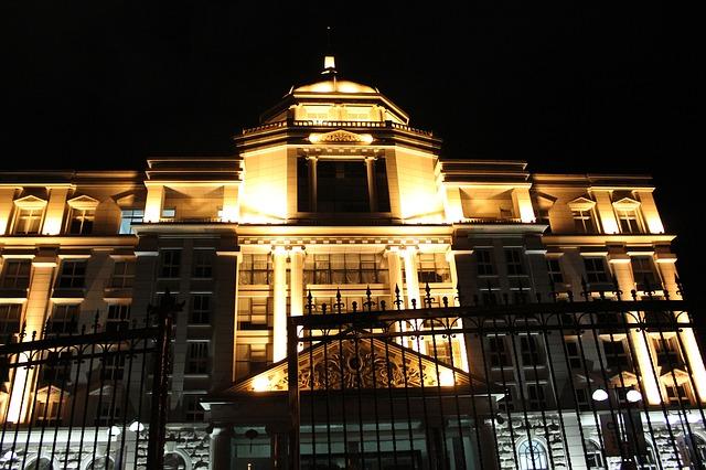 Free building night brilliant light