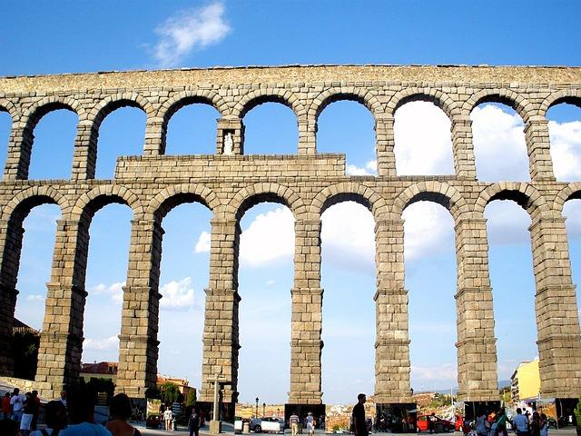 Free segovia spain aqueduct old historical landmark