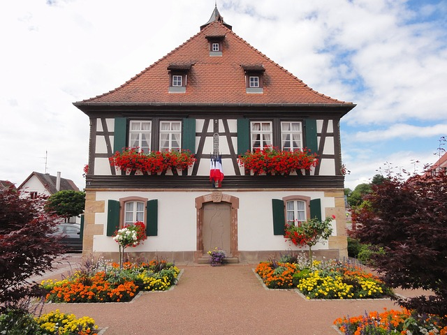 Free seebach france house home sky clouds architecture