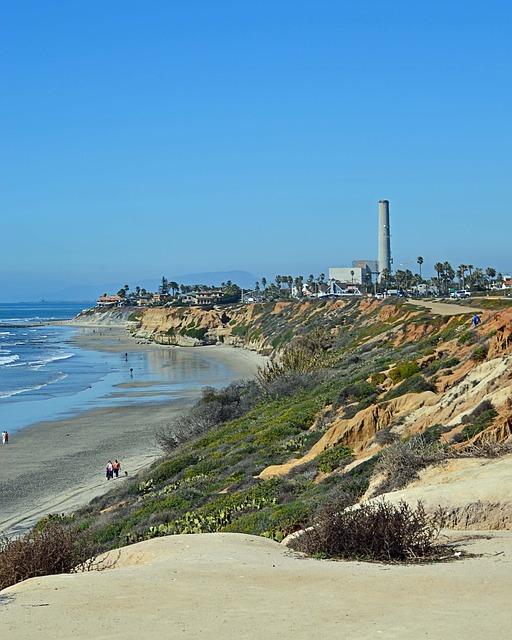 Free carlsbad california beach sand coast pacific usa