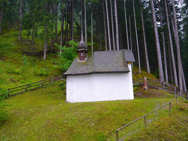 Free austria landscape church building fence forest