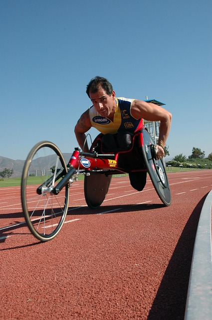 Free man athletic disability sport wheelchair handicap