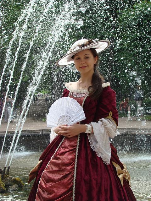 Free fan red source drops time smile women lady
