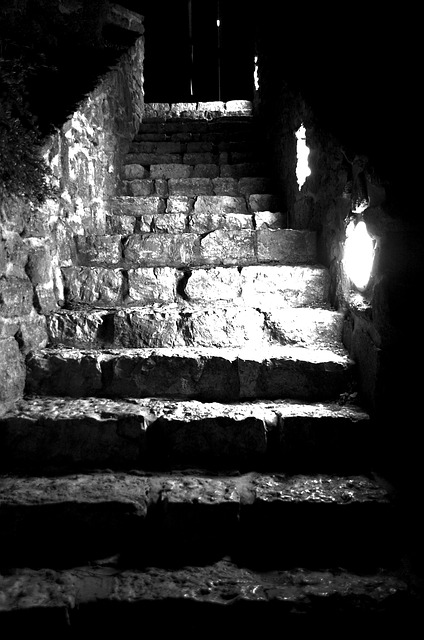 Free stair middle ages tihany stone