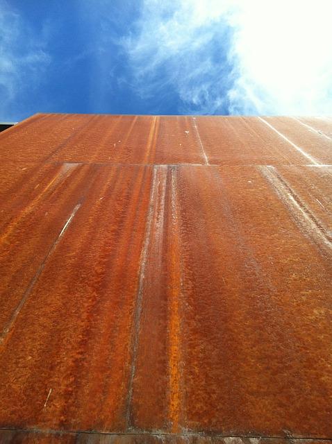 Free building stainless sky rusty textura
