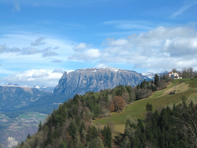 Free south tyrol landscape sky clouds mountains valley