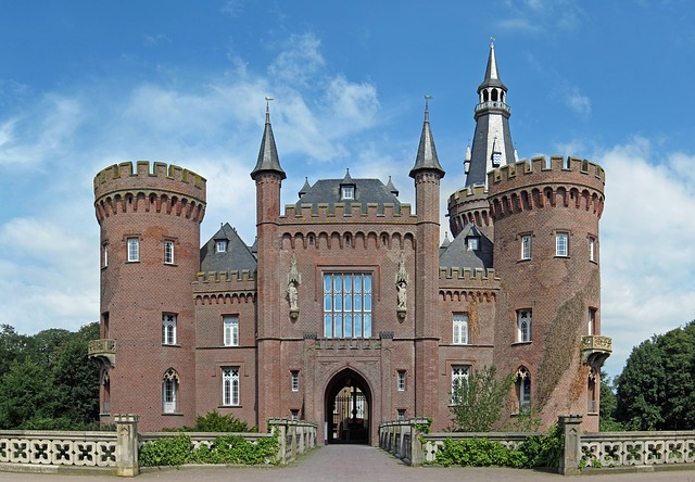 Free moyland germany castle structure sky clouds house