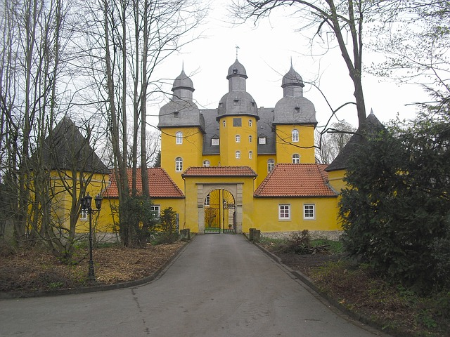 Free holte palace germany structure sky clouds house