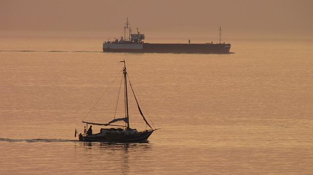 Free abendstimmung sea sunset light boot ship romantic