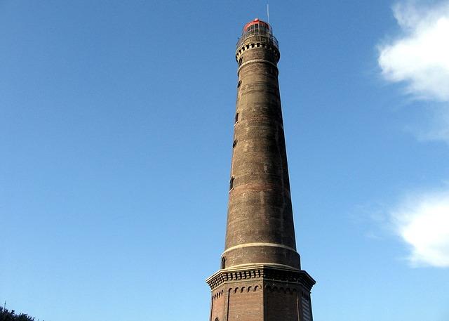 Free borkum new lighthouse blue coast island
