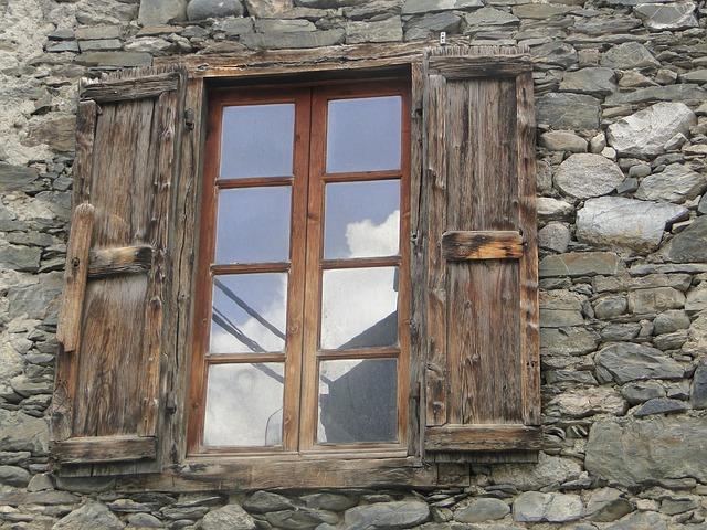 Free window stones wall old window stone house