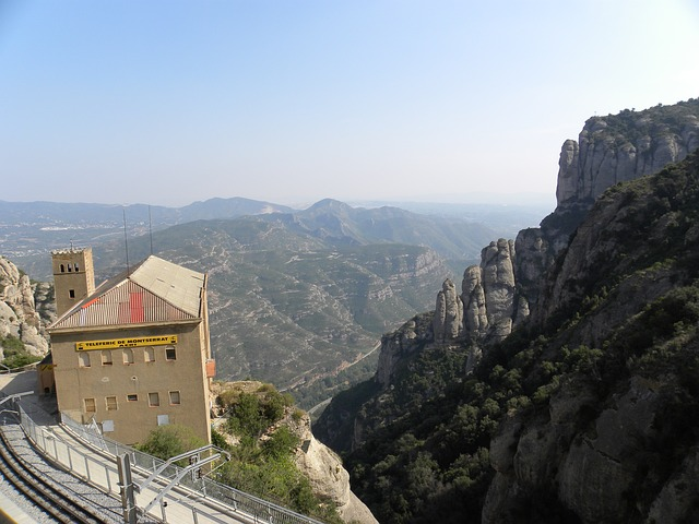 Free monserrat station mountains europe architecture
