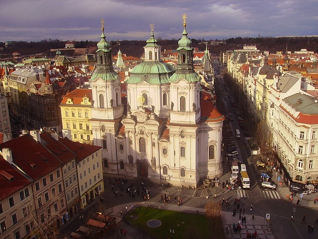 Free prague czech republic city urban buildings church