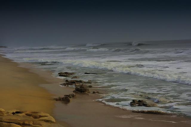 Free hurricane beach ocean waves sand seashore water