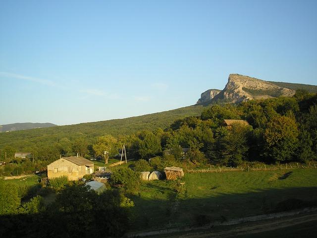 Free crimea landscape mountains scenic sky clouds