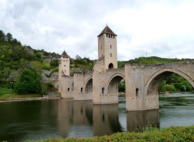 Free cahors france bridge towers landmark historical