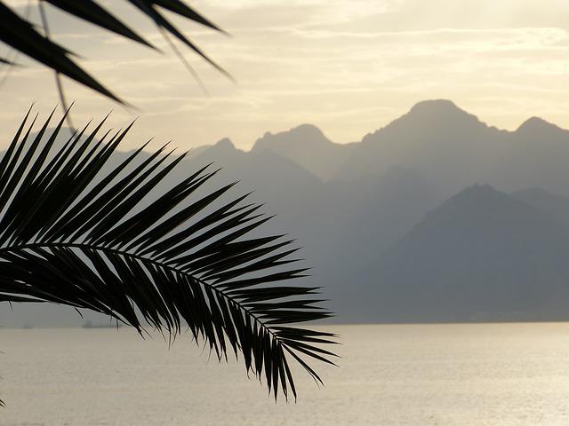 Free sea abendstimmung afterglow horizon mountains