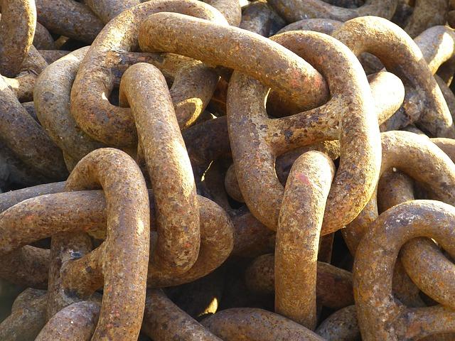 Free chain iron metal hard anchor chain