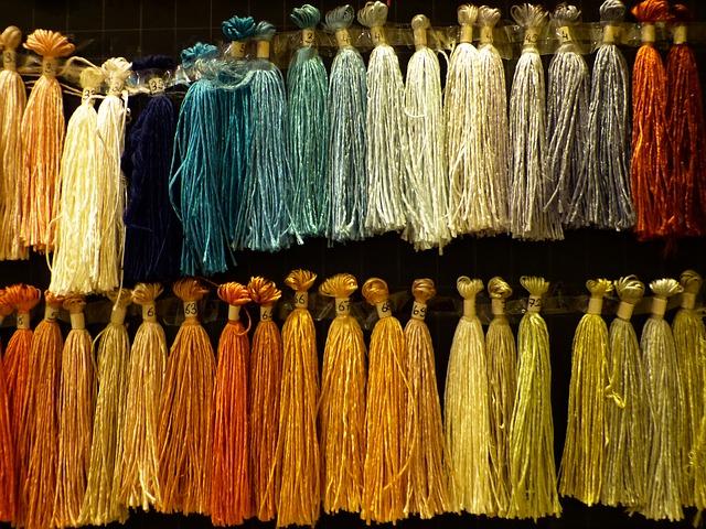 Free silk thread raw silk yarn weave tying colored