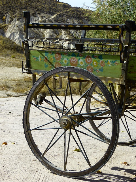Free wheel spokes coach axis wagon trailers
