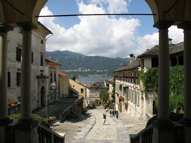 Free italy sky clouds arch arched buildings urban