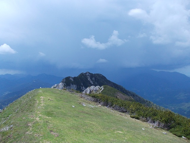 Free slovenia olseva mountaintop mountains sky clouds