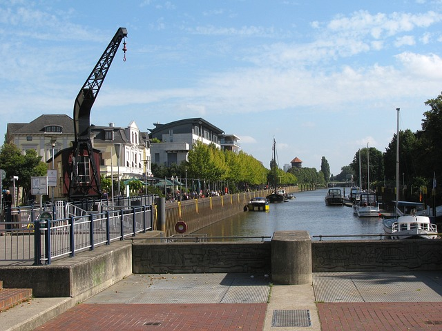 Free oldenburg germany city town buildings crane boats