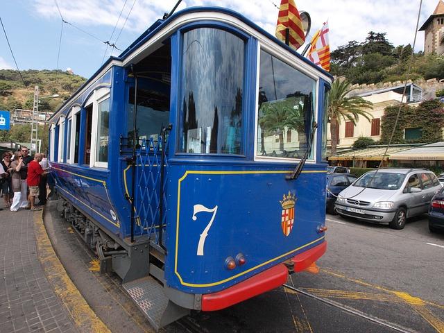 Free Photos: Barcelona spain tram train transportation people | David Mark