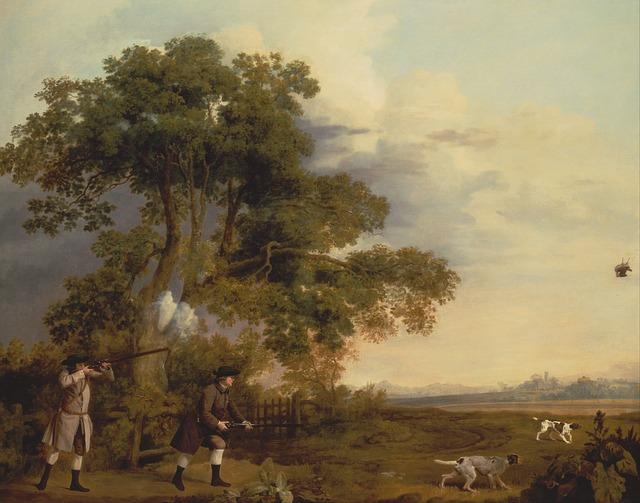 Free george stubbs landscape art artistic painting