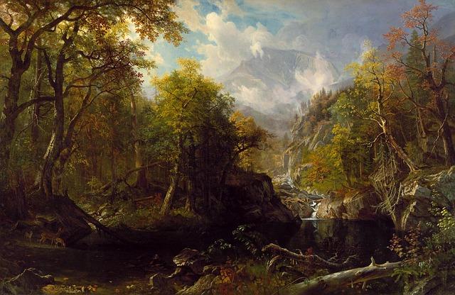 Free albert bierstadt landscape art artistic painting